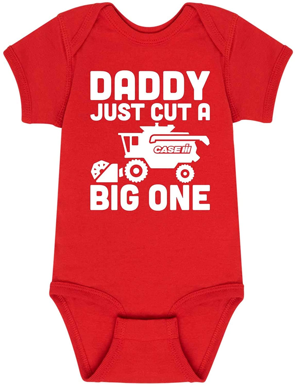 Daddy Just Cut A Big One Case Ih - Infant One Piece