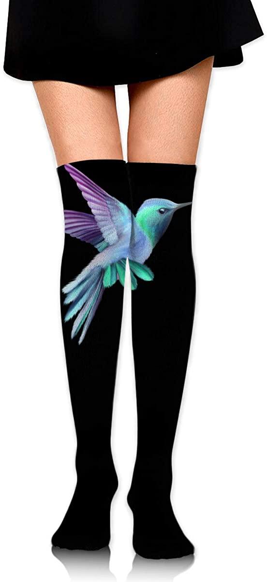 Knee High Socks Hummingbird Women's Athletic Over Thigh Long Stockings