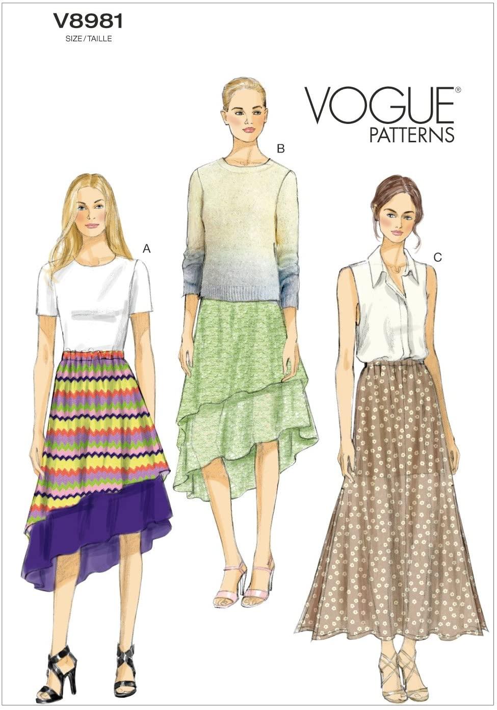 Vogue Patterns V89810Y0 Misses Skirt Sewing Template, Size Y (XSM-SML-MED)