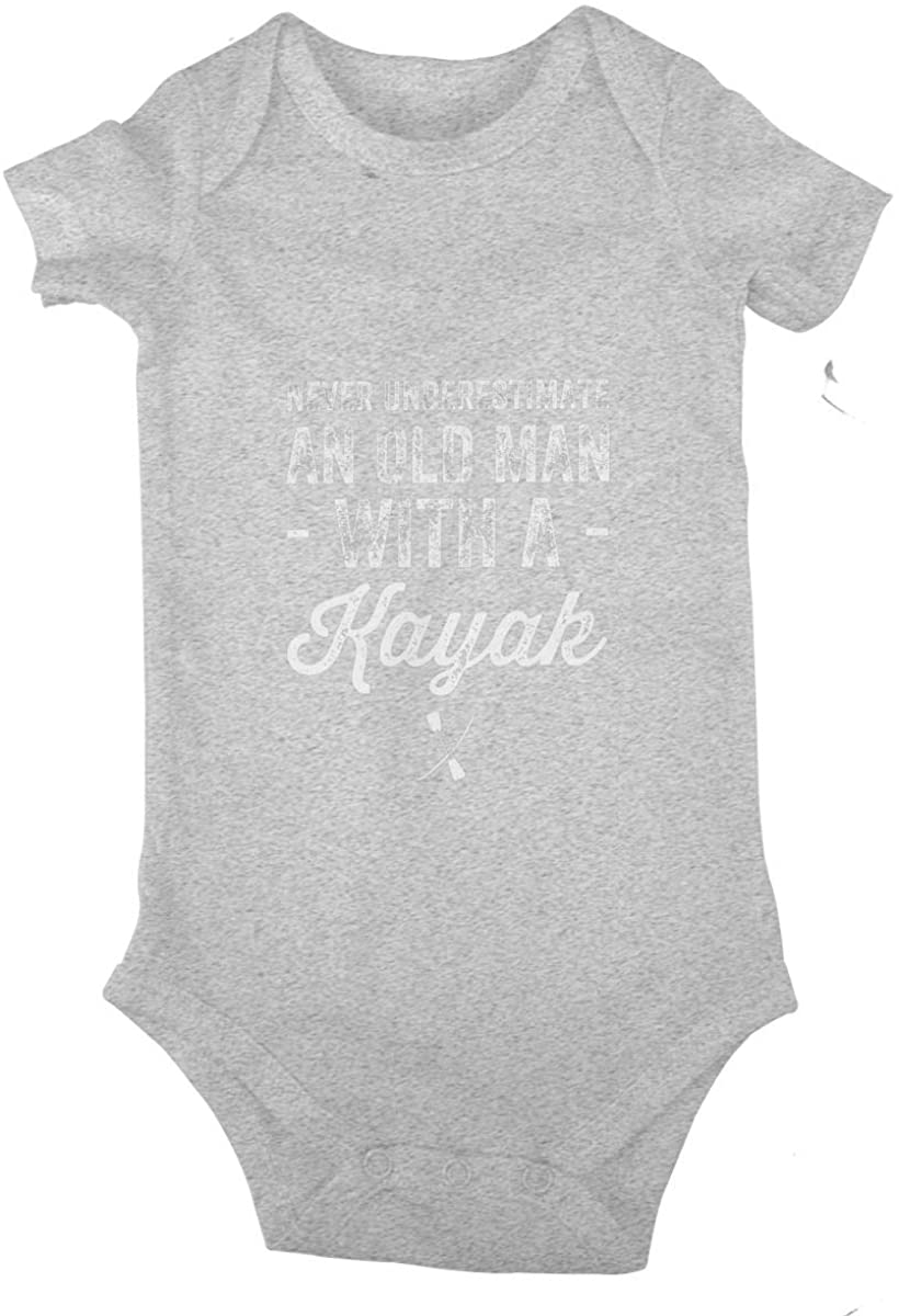 Never Underestimate an Old Man with A Kayak Baby Climbing Clothes Short Sleeved Bodysuit