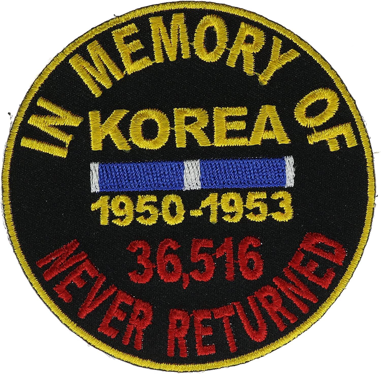 Korea In Memory of Never Returned Biker Patch 3 inch IVANP4865