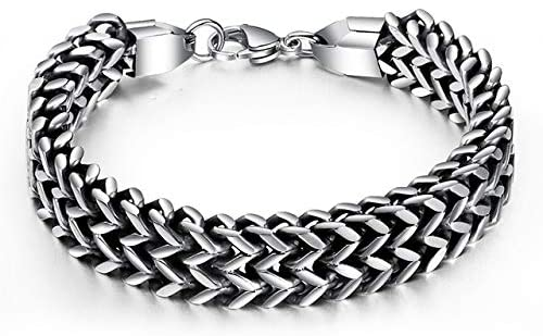 Bracelets Stainless Steel Double Layered Fish Scale Bracelets Domineering Link Chain Bangles Jewelry Gift 21cm