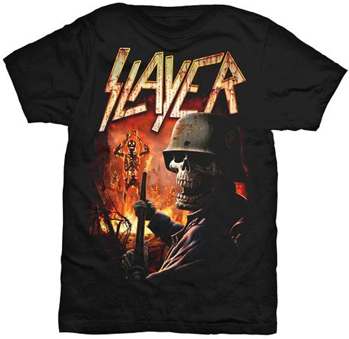 Slayer Mens Tee: Torch - Black - Large