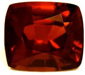 9.05 Carat Untreated Loose Hessonite Garnet Cushion Cut
