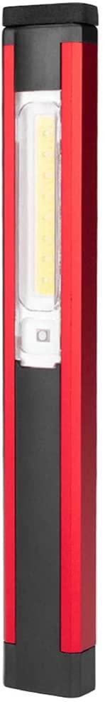 OSALADI Inspection Torch Inspection Beam Penlight LED Flashlight Portable COB Working Lamp Rechargeable Inspection Light Craftsman Pen Light for Repairing Maintenance (Red)