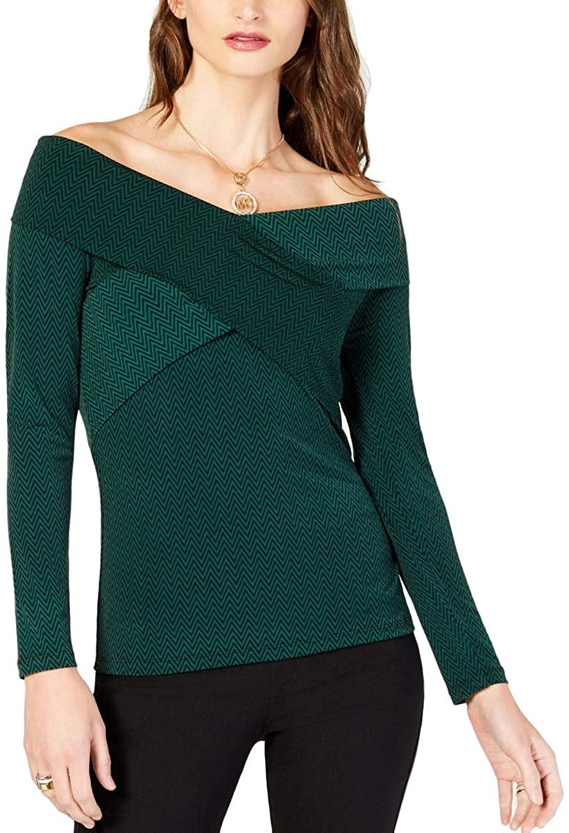 Michael Kors Womens Crossover Pullover Blouse