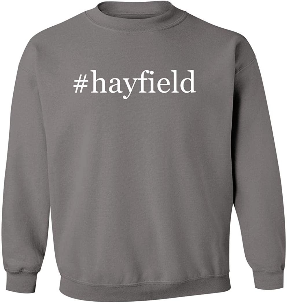 #hayfield - Men's Hashtag Pullover Crewneck Sweatshirt, Grey, X-Large