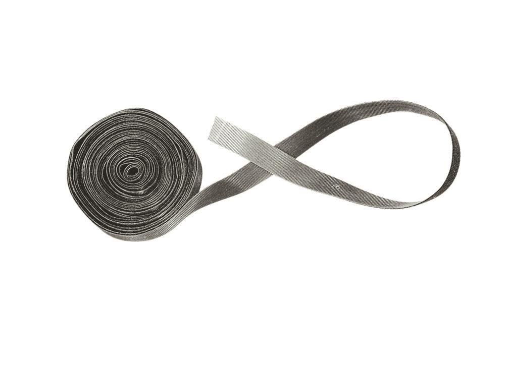 Elastic Loop Fastener with 2 Loop, 10 Yard, Black
