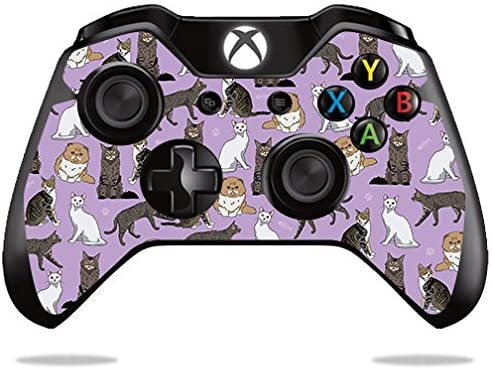 MightySkins Skin Compatible with Microsoft Xbox One or One S Controller - Cat Chaos   Protective, Durable, and Unique Vinyl wrap Cover   Easy to Apply, Remove, and Change Styles   Made in The USA