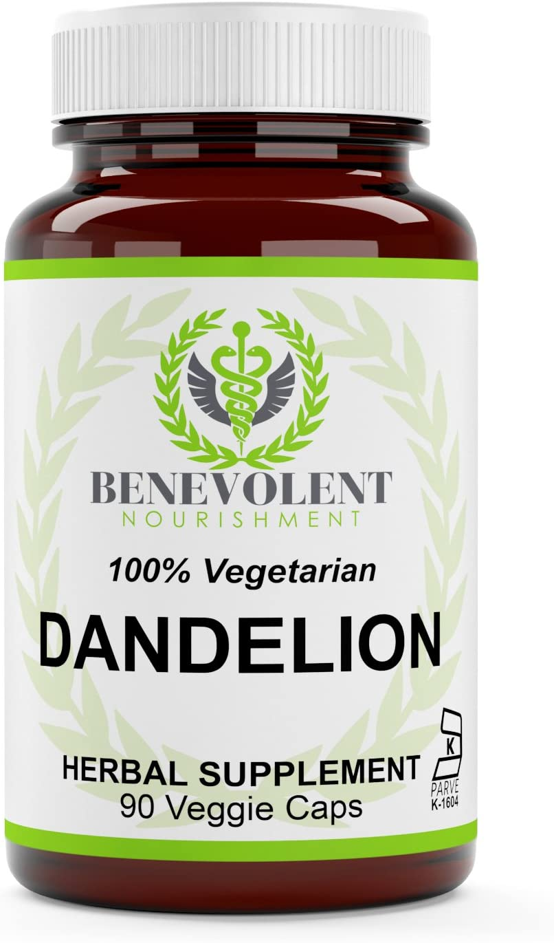 Dandelion Root Capsules - Organic Taraxacum Officinale - 450 mg per Capsule- 100% Vegetarian & Gluten Free - 90 Non GMO Powder Veggie Caps - True Herbal Supplement