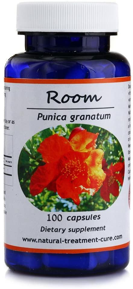Hekma Center Pomegranate Peel - Punica Granatum - 100 Capsules Rich in Vitamin C - Vegan