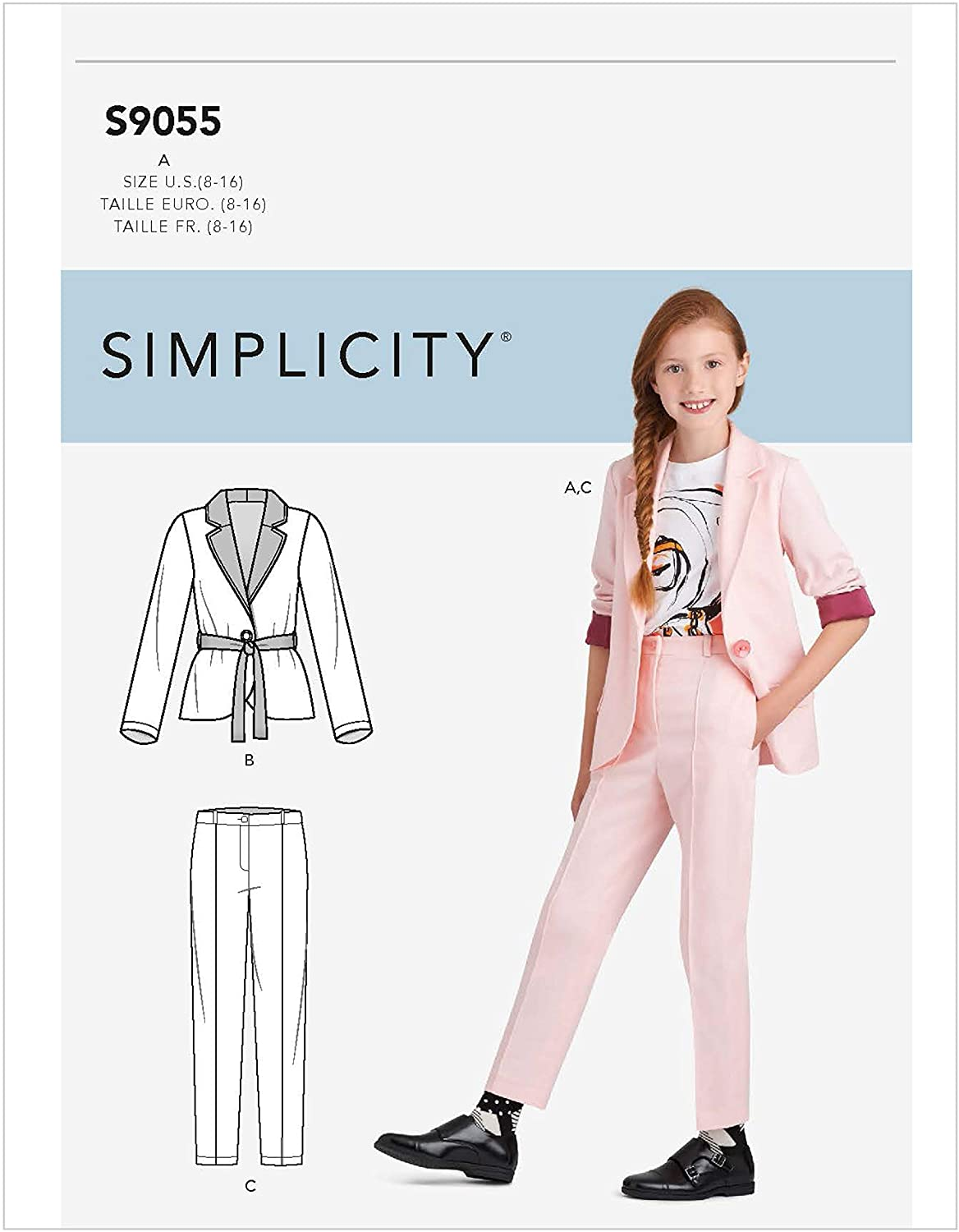 Simplicity Sewing Pattern S9055 - Girls' Jacket & Pants, Size: A (8-10-12-14-16)