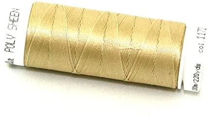 Mettler Polysheen Polyester Machine Embroidery Thread 200m 200m 1172 Straw - each