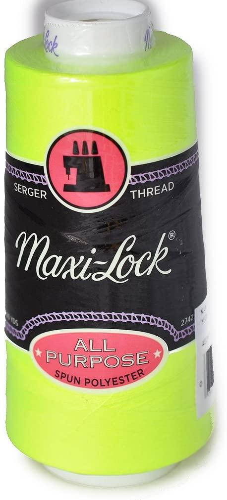 Maxi Lock All Purpose Thread Neon Yellow 3000 YD Cone MLT-045