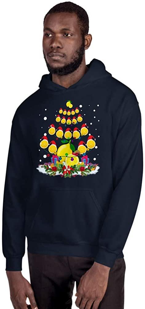 TEEPOMY Lemon Lover Xmas Gift Lemon Christmas Tree Unisex Hoodie