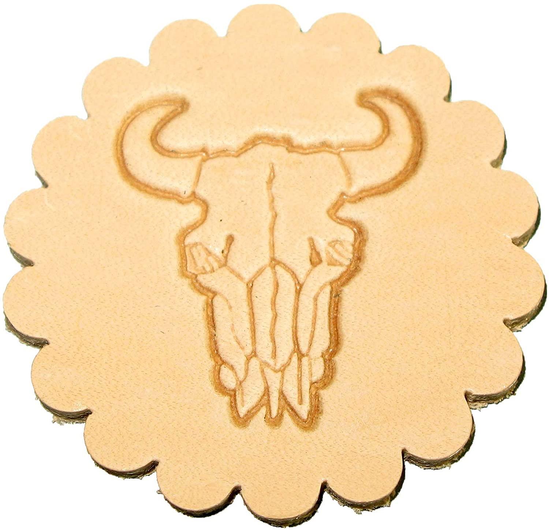 Buffalo Skull 3-D Leathercraft Stamp 88312-00