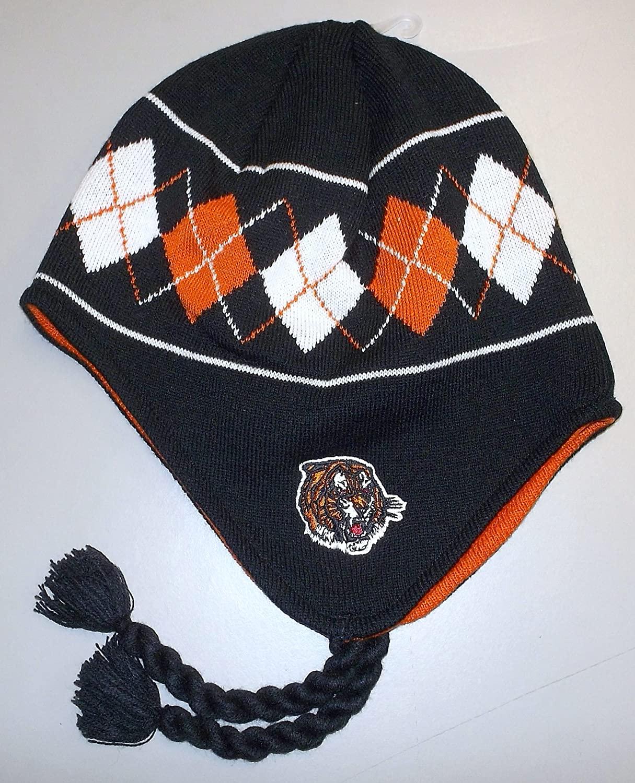 Reebok WHL Medicine HAT Tigers Knit Hat with Braids - Adult OSFA