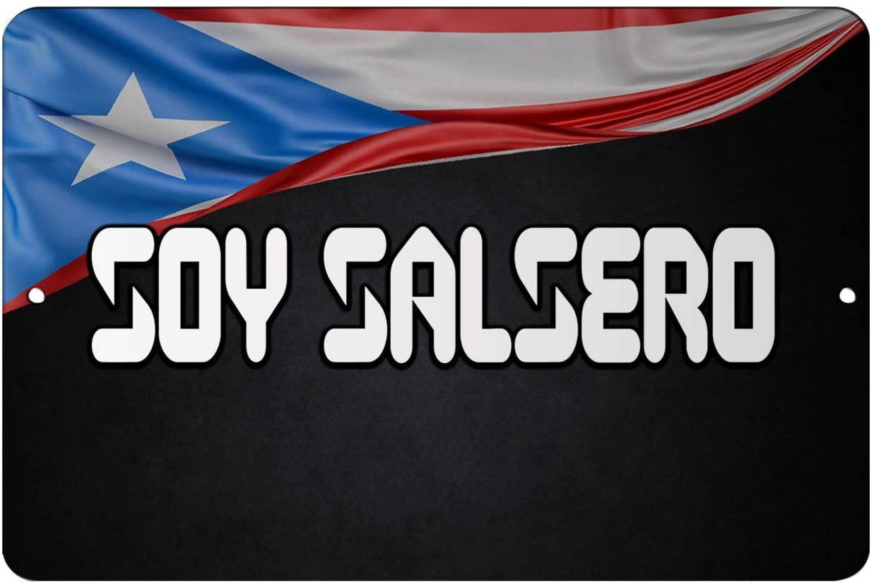 Makoroni - Soy Salsero Puerto Rico 12x18 inc Aluminum Decorative Wall Street Sign