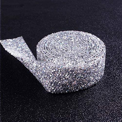 Xuccus Prajna 3 cm Rhinestone Chain DIY Trimming Strass Crystal Hot Fix Motif Rhinestone Robbin Band Applique for Dress Craft Decor Z - (Color: 10, Size: 3cm)