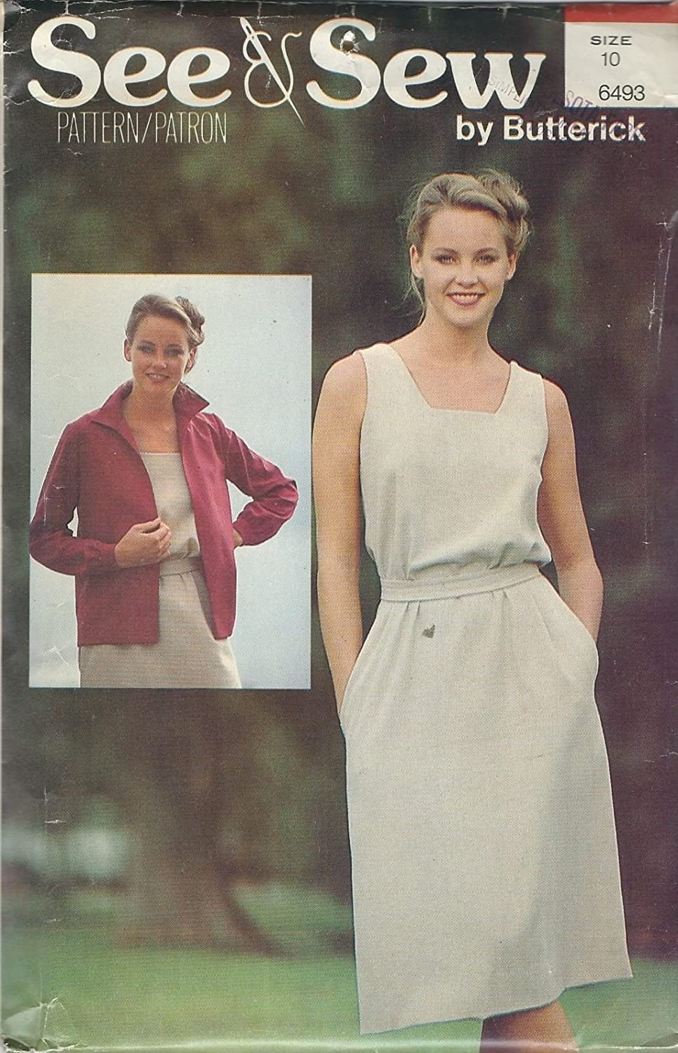 See & Sew 6493 Misses' Jacket, Dress and Belt Size 10 Sewing Pattern supplier:sailorsparadise