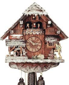 Black ForestForest VDS Certified 8 Day Musical Cuckoo Clock with Hand Carved Winter Landscape by Rombach and Haas Sale Price - Code romba20