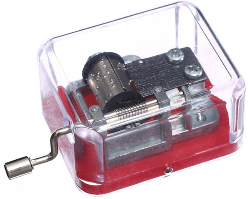 Youtang(TM Plastic Hand Crank Music Box SY003 (18 Note Movement in Silver,Set of 1) (Red-Edelweiss)