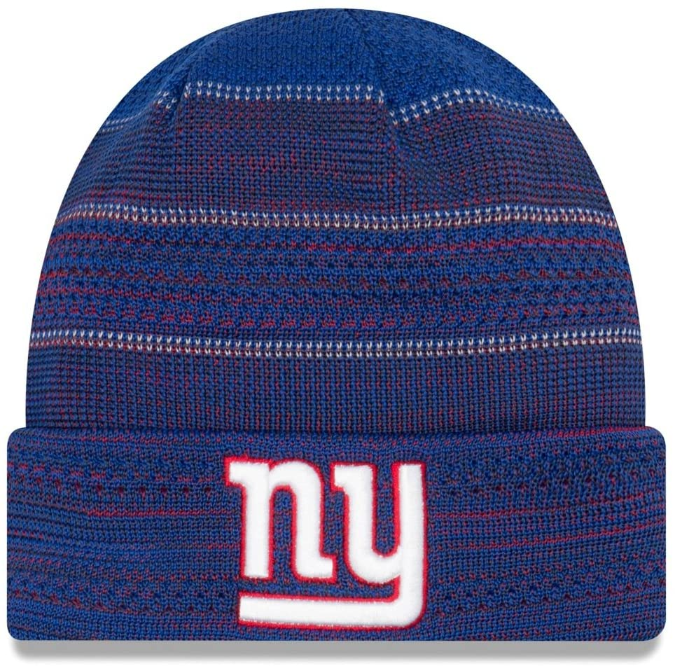 New Era Men's Men's Giants 2017 Sideline Official TD Knit Hat Royal Size One Size