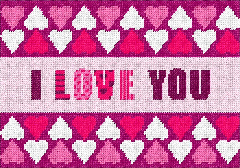 Love Hearts Border Needlepoint Kit