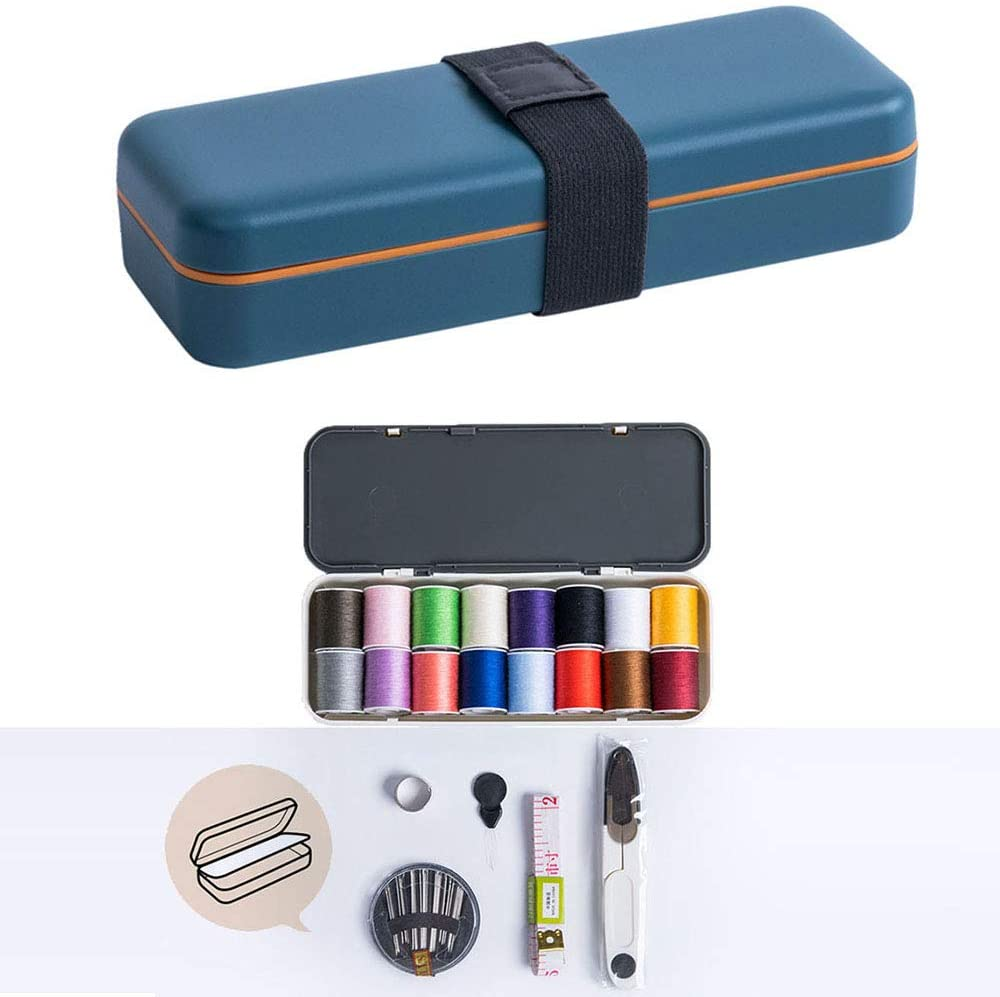 LJ1 Sewing Kit, Premium Sewing Supplies, 16 Thread Spools, with Scissors, Thimble, Thread, Sewing Needles, Tape Measure Etc for Traveler, Adults, Beginner, Emergency