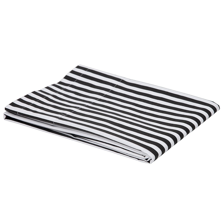 Bacati - Black/White Pin Stripes Crib Fitted Sheet