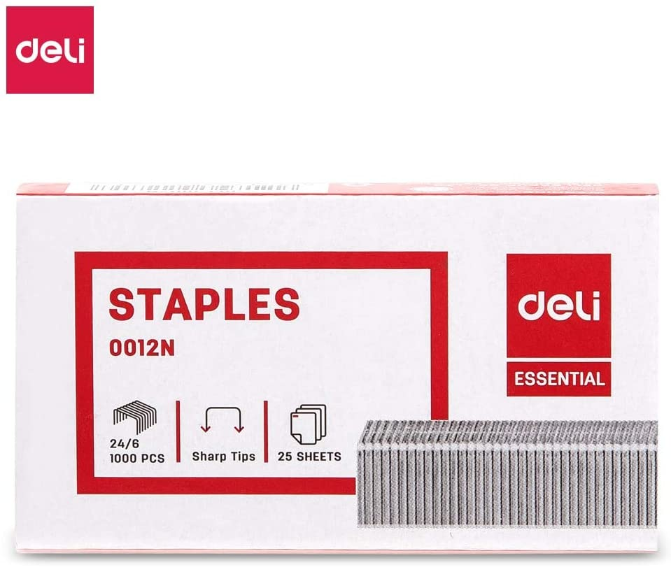 Clips Occus E 0012N Staples 24/6 4BOX/LOT Zinc Plated Wire Iron Material 1000 pcs per Box
