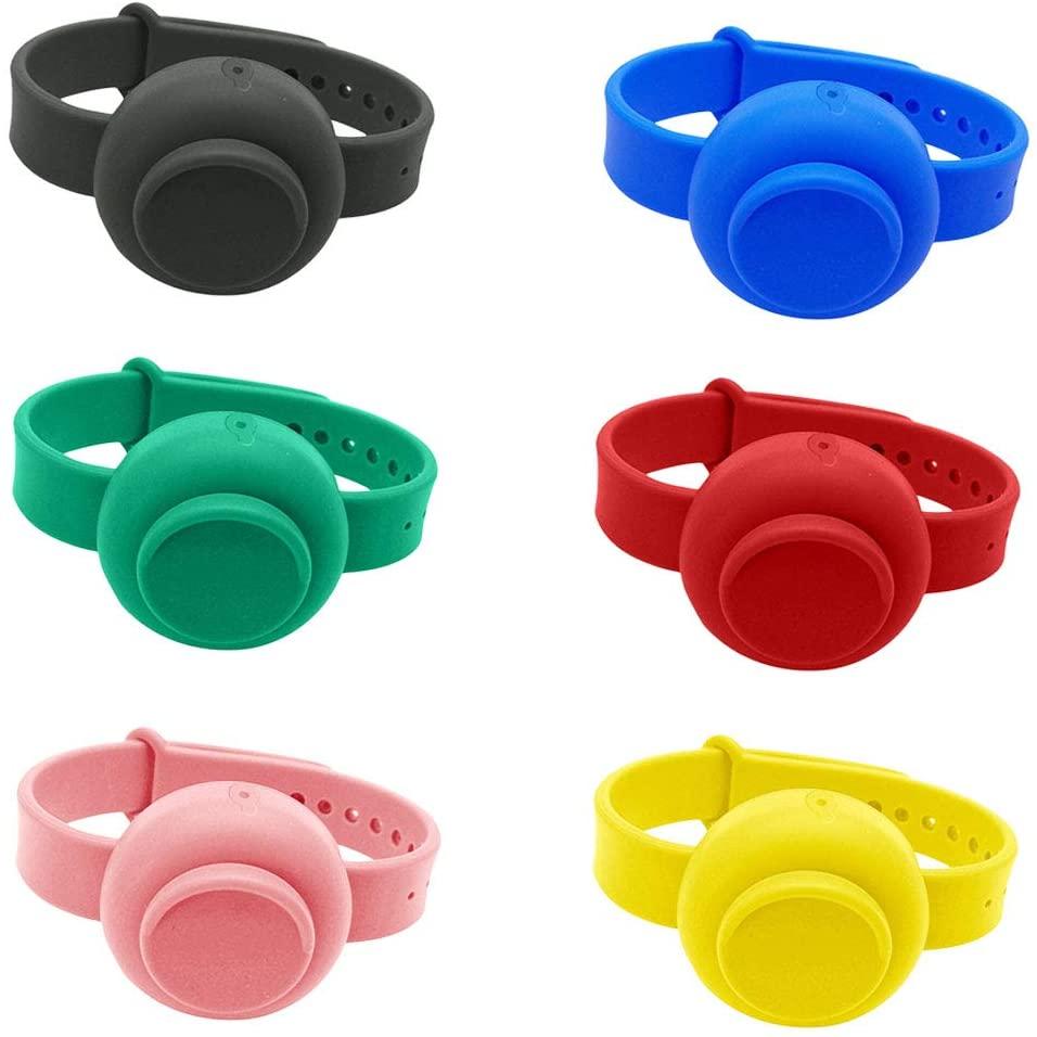 USYFAKGH Liquid Wristband Hand Dispenser Silicone Refillable Wristband, Wearable Dispenser,Wristband Hand Dispenser Combinations, Green