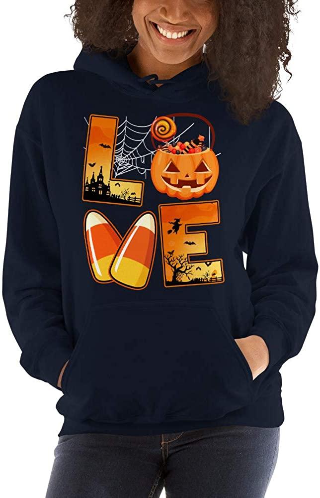 Love Candy Corn Pumpkin Cute Unisex Hoodie