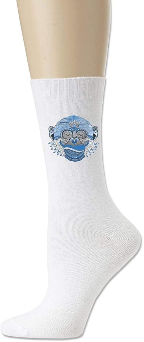 Men Women Socks Indian Monkey Face Boot Tube Dress Sock Crew Long Hose For Hiking