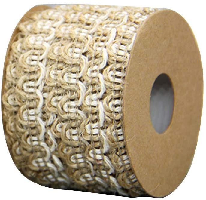 chefensty 5m Hollow Natural Jute Twine Rope String Cord DIY Craft Burlap Wedding Scrapbook