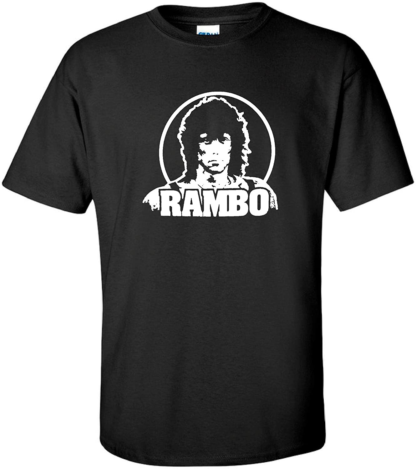 Rambo 80s Retro Movie Black T-Shirt