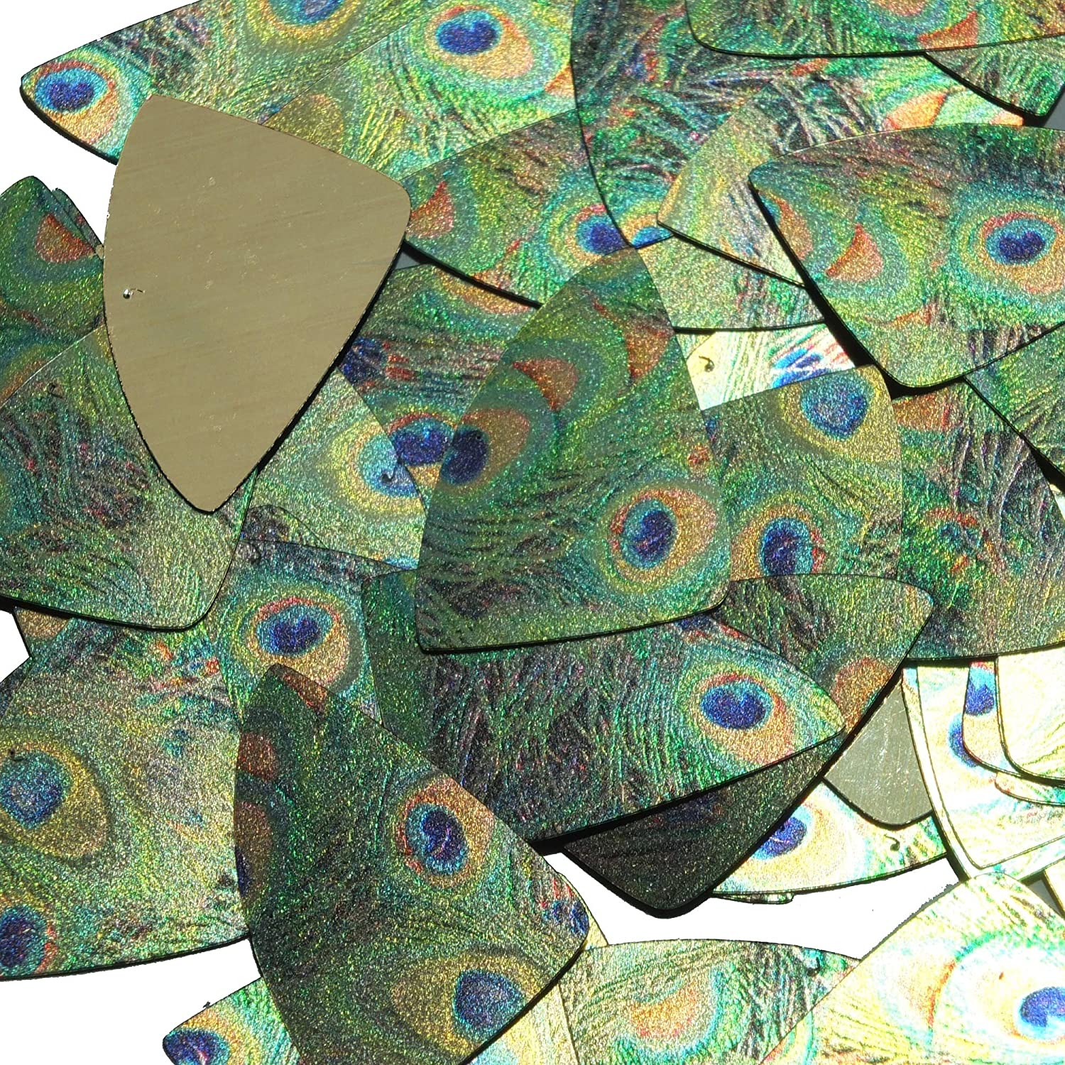 Peacock Feather Eye Sequin Fishscale Fin 1.5 inch Metallic Couture Loose Large Paillettes