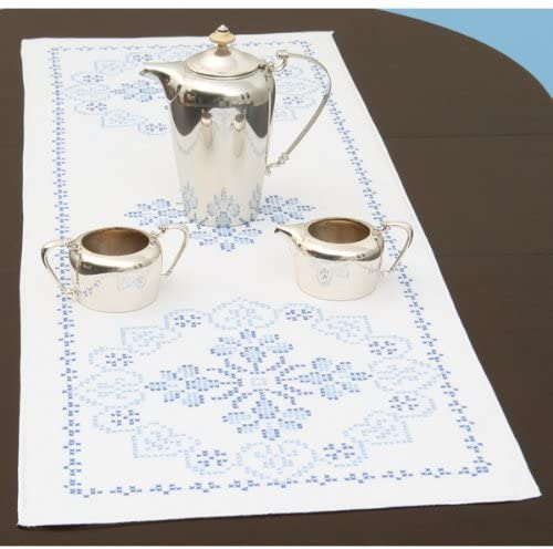 Jack Dempsey Stamped Table Runner/Scarf 15 inch x 42 inch XXX Americana (2-Pack)