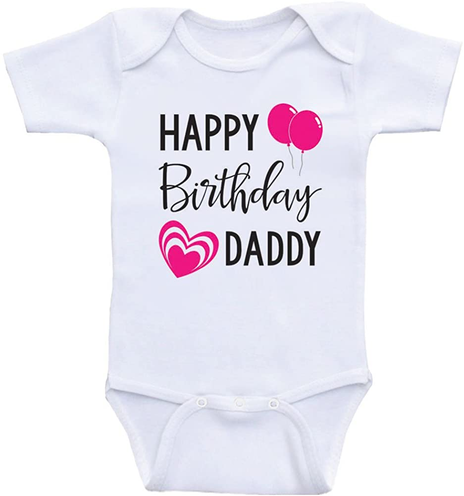 Heart Co Designs Birthday Baby Clothes Happy Birthday Daddy Dads Birthday Baby Onesie Shirt