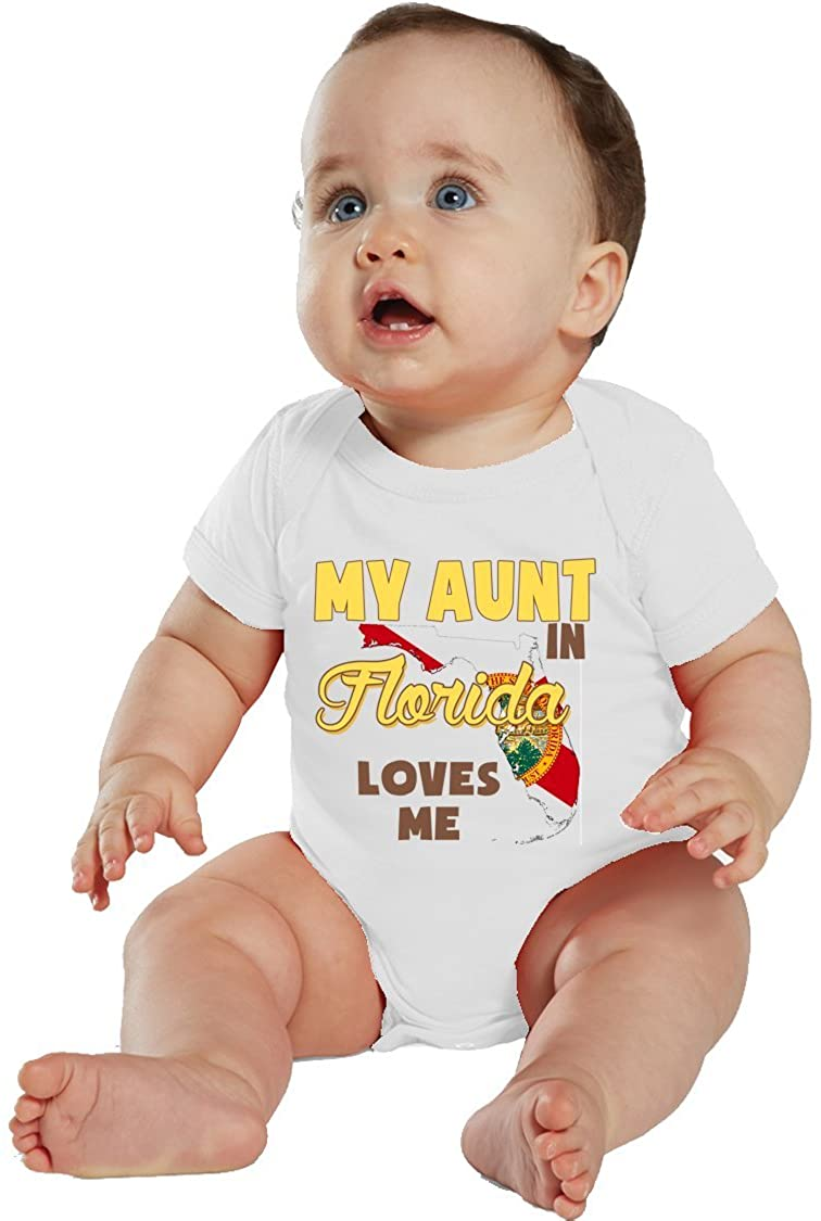 NanyCrafts Baby's My Aunt in Florida Loves me Bodysuit