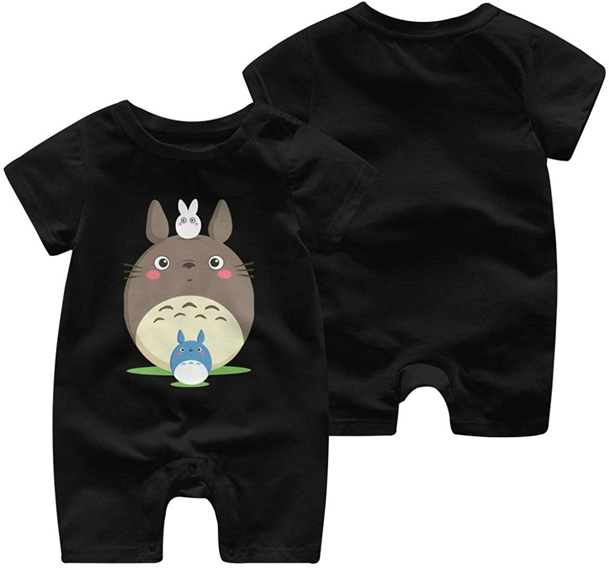 KisdFinda Totoro Baby boy Girl Short Sleeve Jumpsuit Short Sleeve Bodysuit Baby Funny Jumpsuit