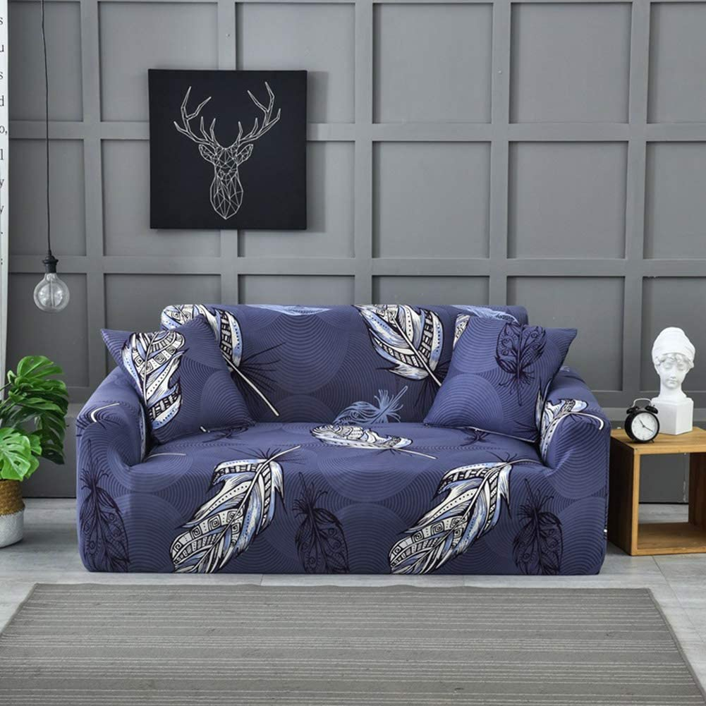 Elastic Printed Polyester Sofa Cover,not-Slip Stretch Sofa Slipcover Tight Wrap Durable Couch Cover Furniture Protector for Pets H Chair