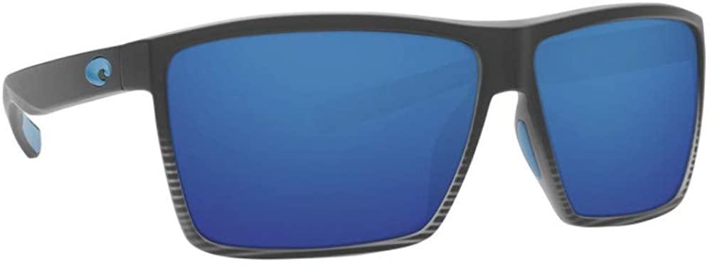 Costa Del Mar Rincon Sunglasses Matte Smoke Crystal Fade/Blue Mirror 580Glass