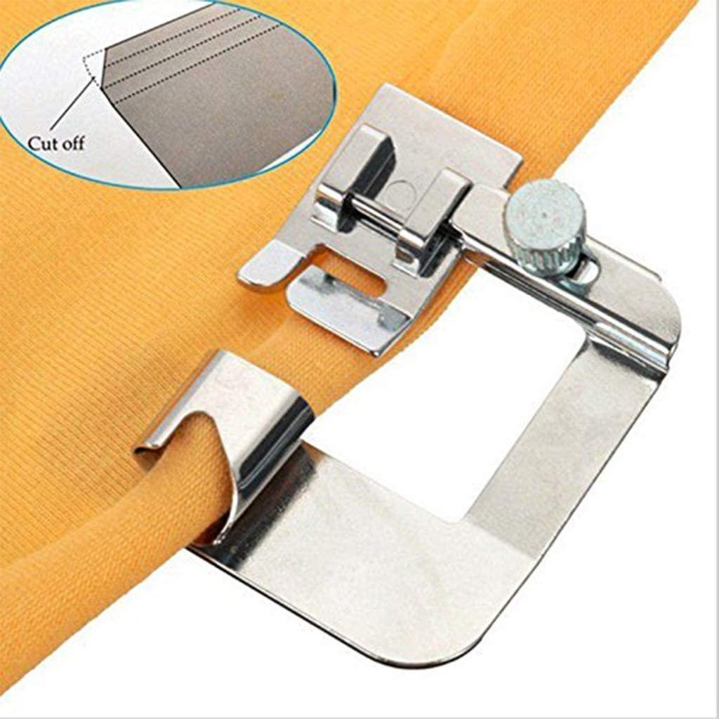 Shirazawa 1Pcs Rolled Hem Curling Presser Foot for Sewing Machine Singer Sewing Accessories