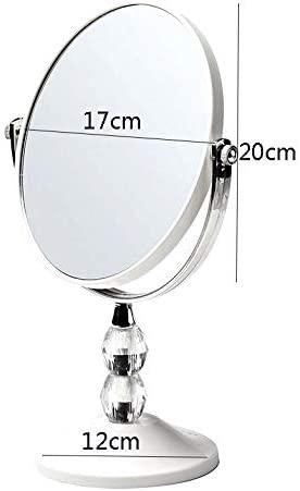 GGYDD European Stilvoll Makeup Mirror,high-Definition Double-Sided Swivel Vanity Mirror Desktop Portable Dormitory Dressing Mirror-c 20x17x12cm(8x7x5)