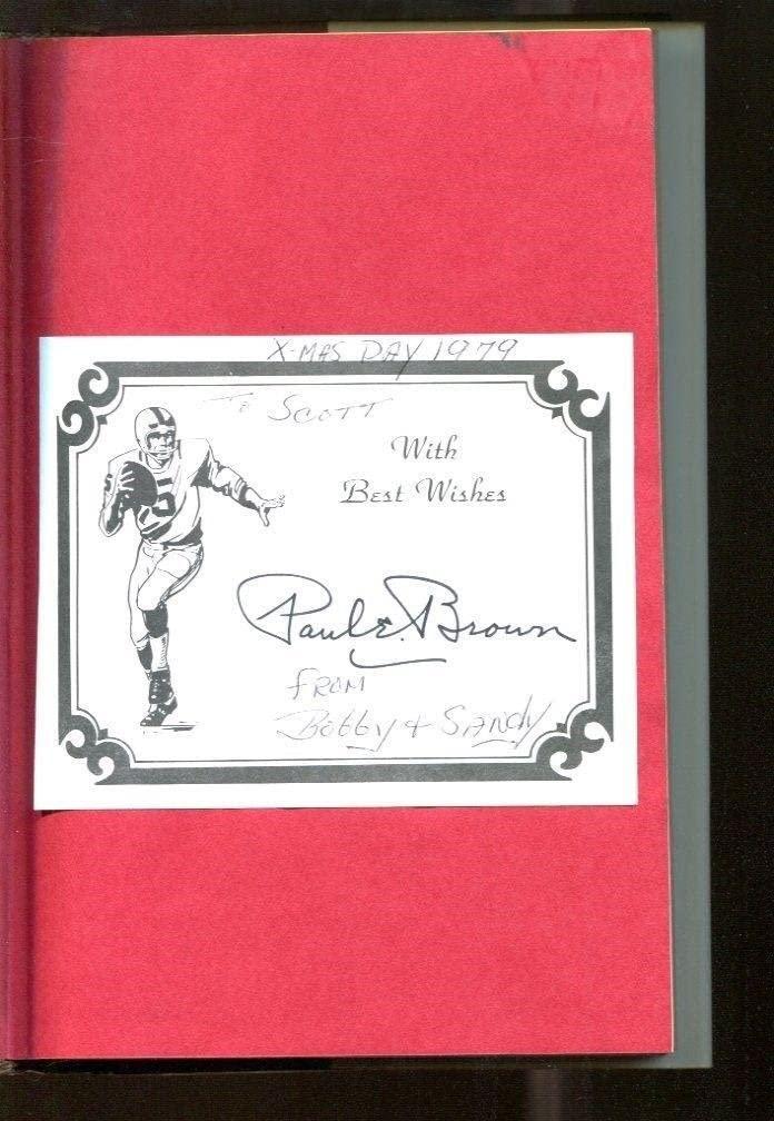 Paul Brown Signed Book PB Cleveland Founder Coach Autographed HOF 39185 - NFL Autographed Miscellaneous Items