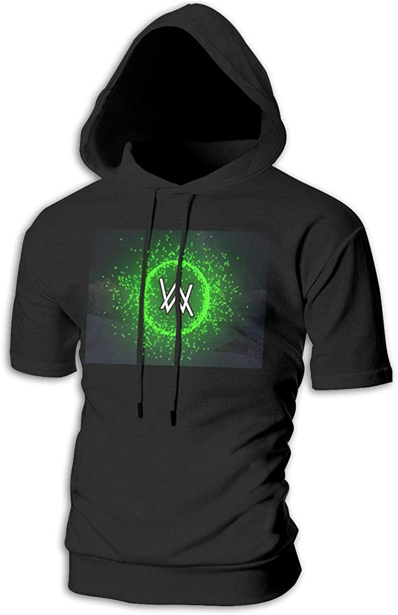 Alan Walker Lunz Men's Short-Sleeved Sweater with Hood and No Pocketsblack
