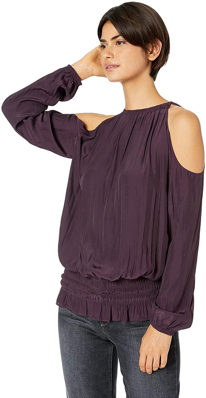 Ramy Brook Women's Lauren Cold Shoulder Long Sleeve Top