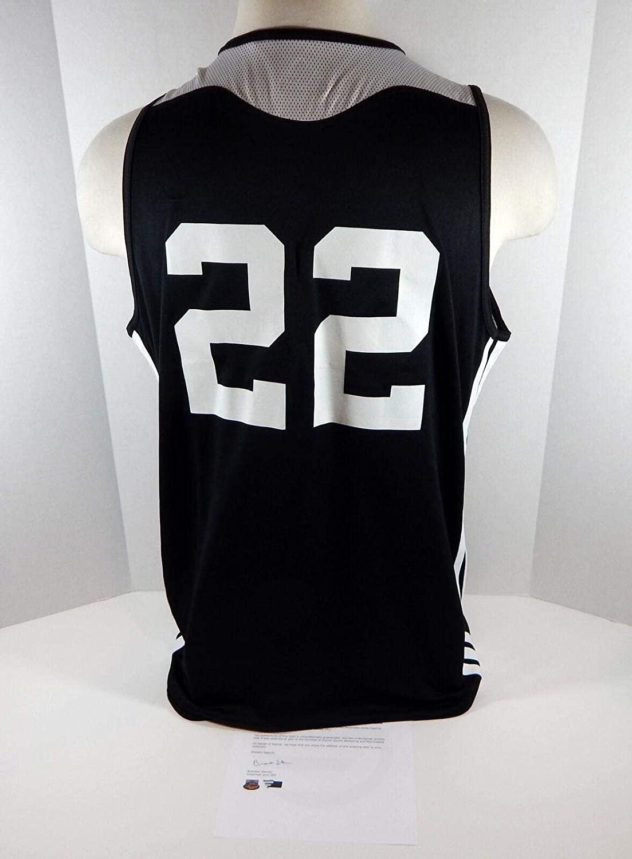 2016-17 Brooklyn Nets #22 Game Used Black Grey Practice Reversiblie Jersey - NBA Game Used