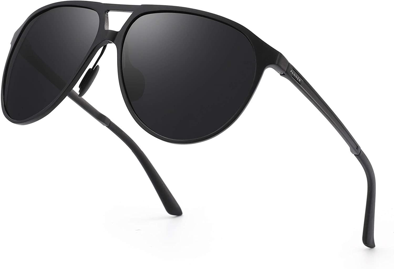 PANNER Men's Driving Polarized Sunglasses for Men Al-Mg Metal Frame Ultra Light